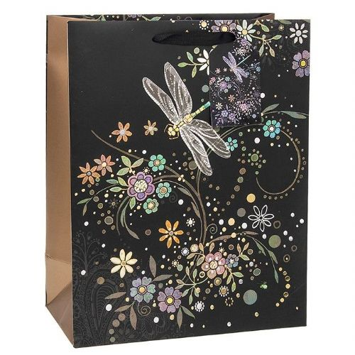 Bug Art Collection Dragonfly In A Swirl Medium Gift Bag